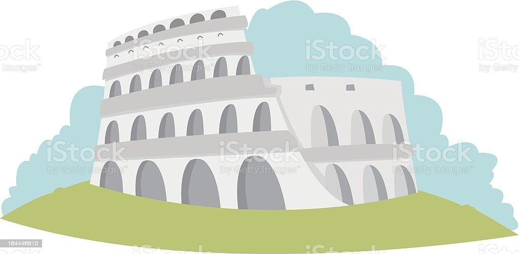 Colosseum - Rome vector art illustration