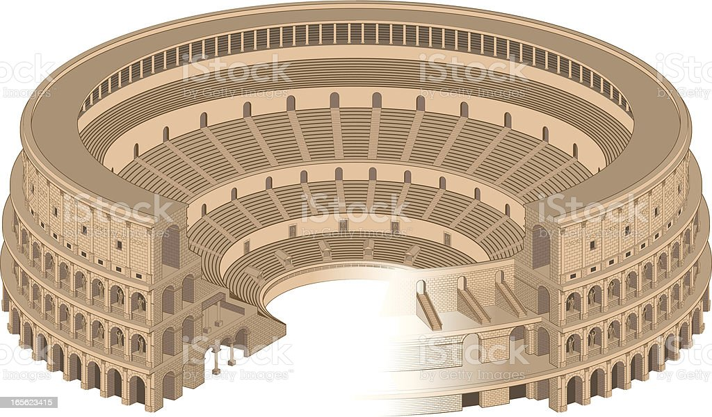 Colosseum royalty-free stock vector art