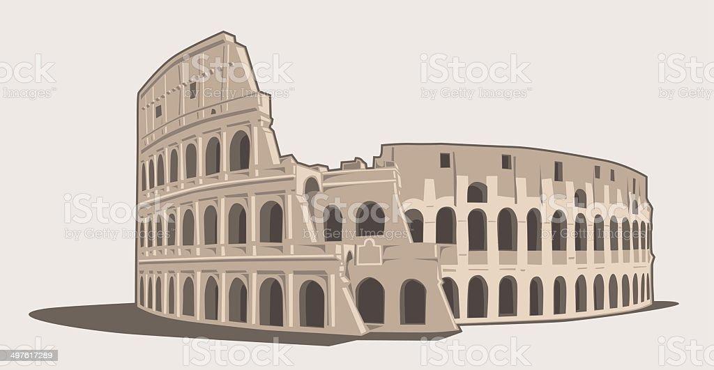 Colosseum vector art illustration