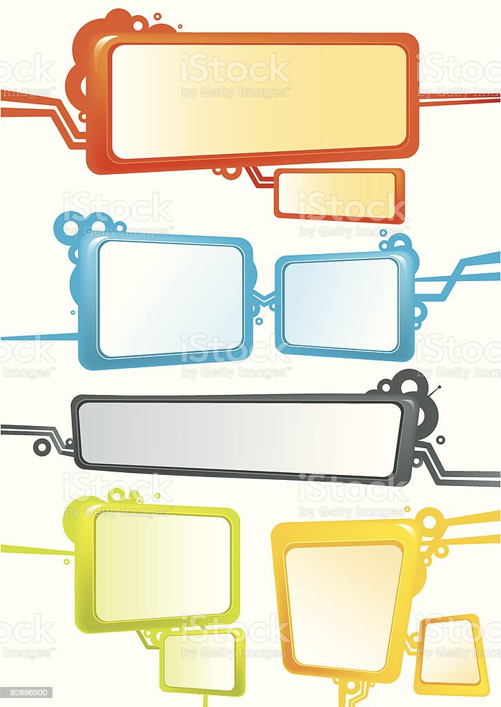 Colour banners royalty-free stock vector art