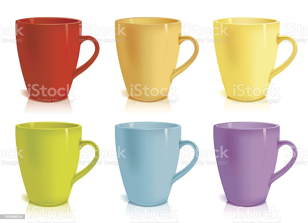 Colour cups royalty-free stock vector art