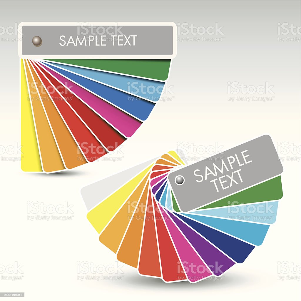 Colour guide vector art illustration