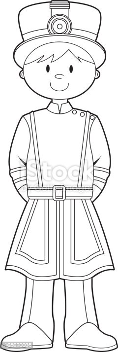 Colour In Beefeater Royal Guard Stock Vector Art 165620035