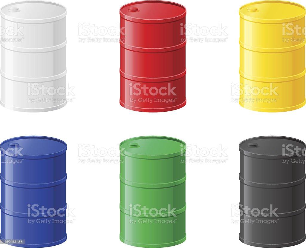 colour metallic barrels vector illustration vector art illustration