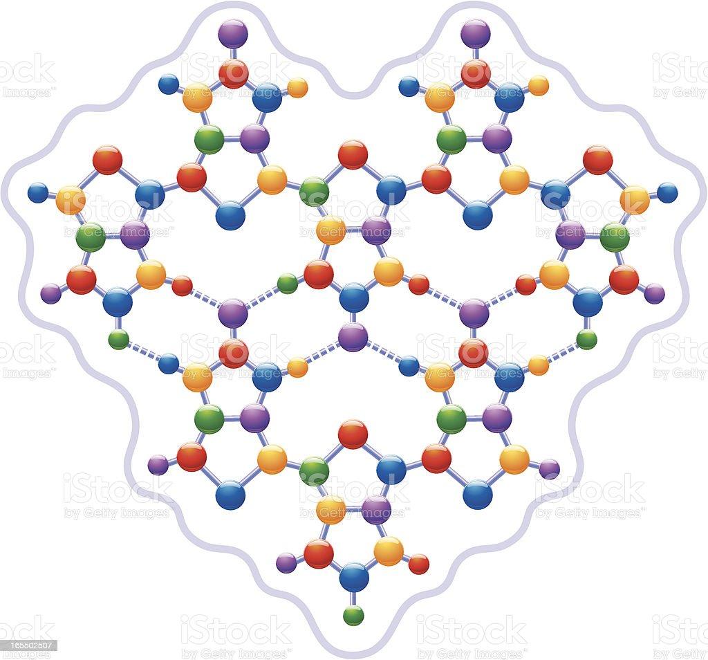 Colour Molecule royalty-free stock vector art