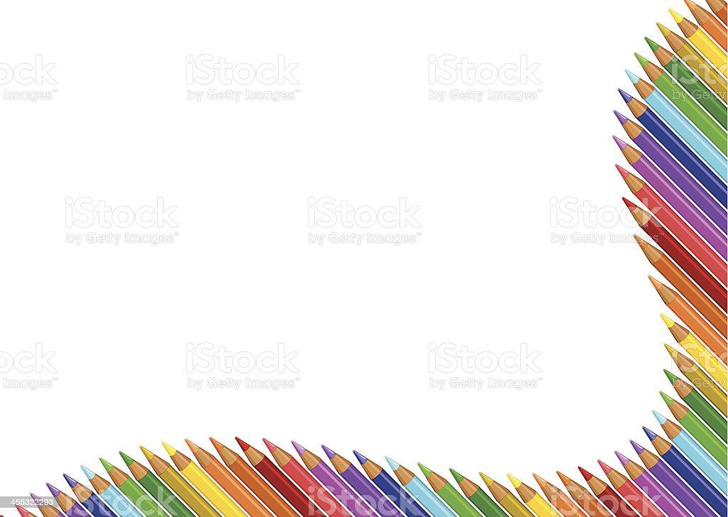 colour pencils royalty-free stock vector art