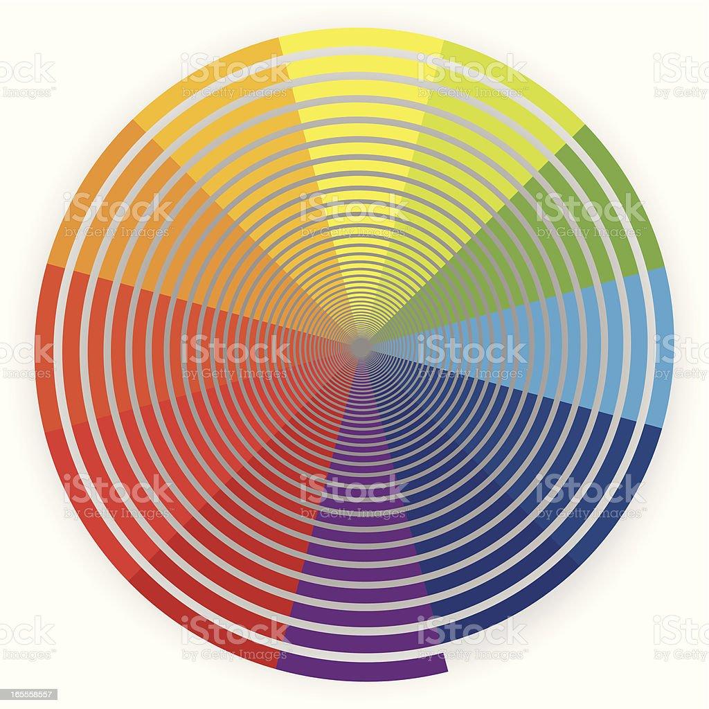 Colour Spiral royalty-free stock vector art