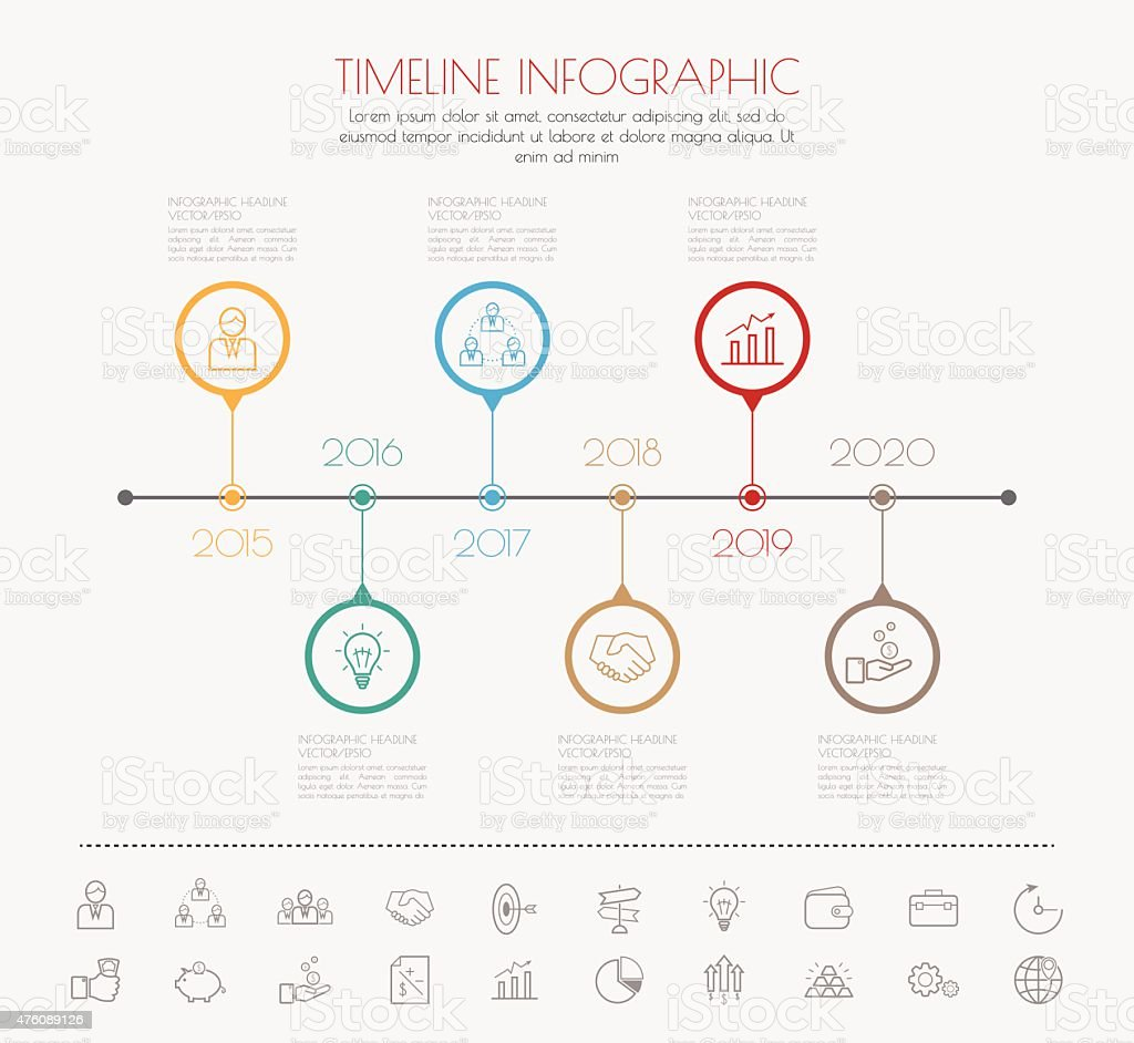 Colour StepDesign clean number timeline template/graphic or webs vector art illustration