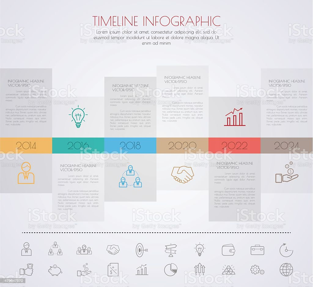 Colour StepDesign clean number timeline template/graphic or webs vector art illustration