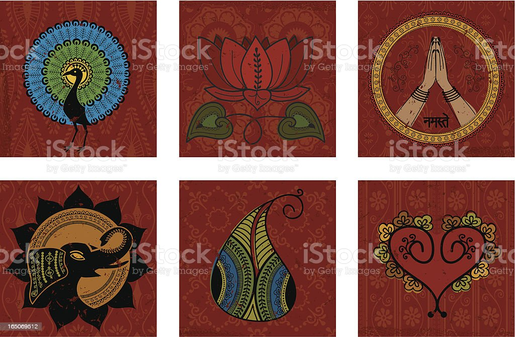 Colour Tiles (Vector) vector art illustration