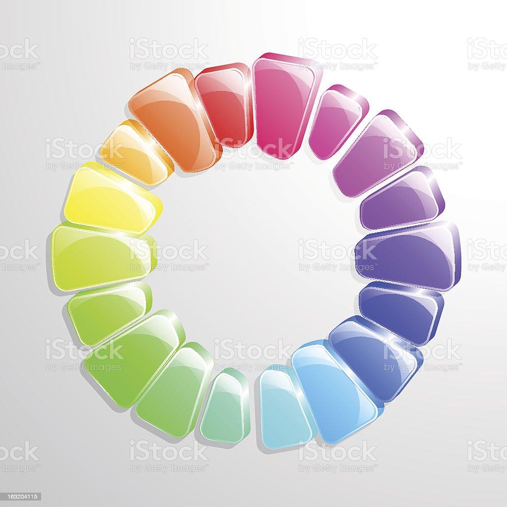 Colour Wheel royalty-free stock vector art