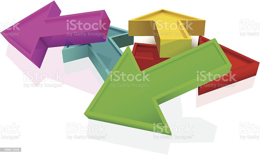 coloured arrows vector art illustration