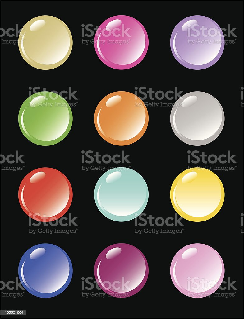 coloured buttons royalty-free stock vector art