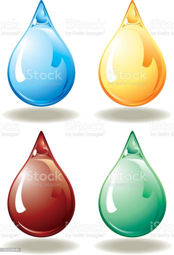 coloured drops vector art illustration