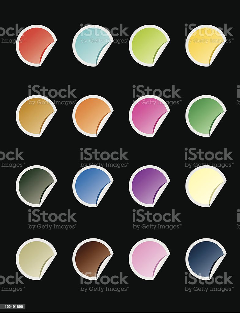 coloured stickers royalty-free stock vector art
