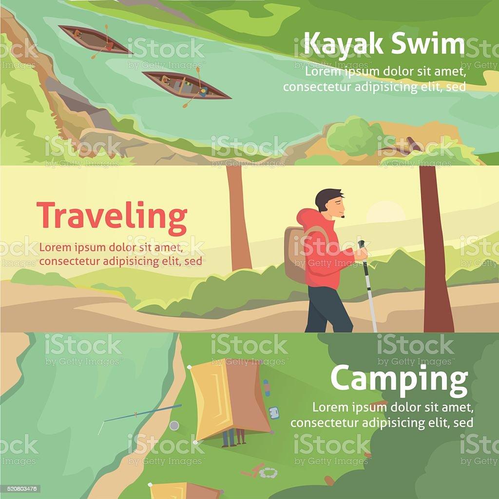Colourful banner set for your business, web sites etc. Best vector art illustration