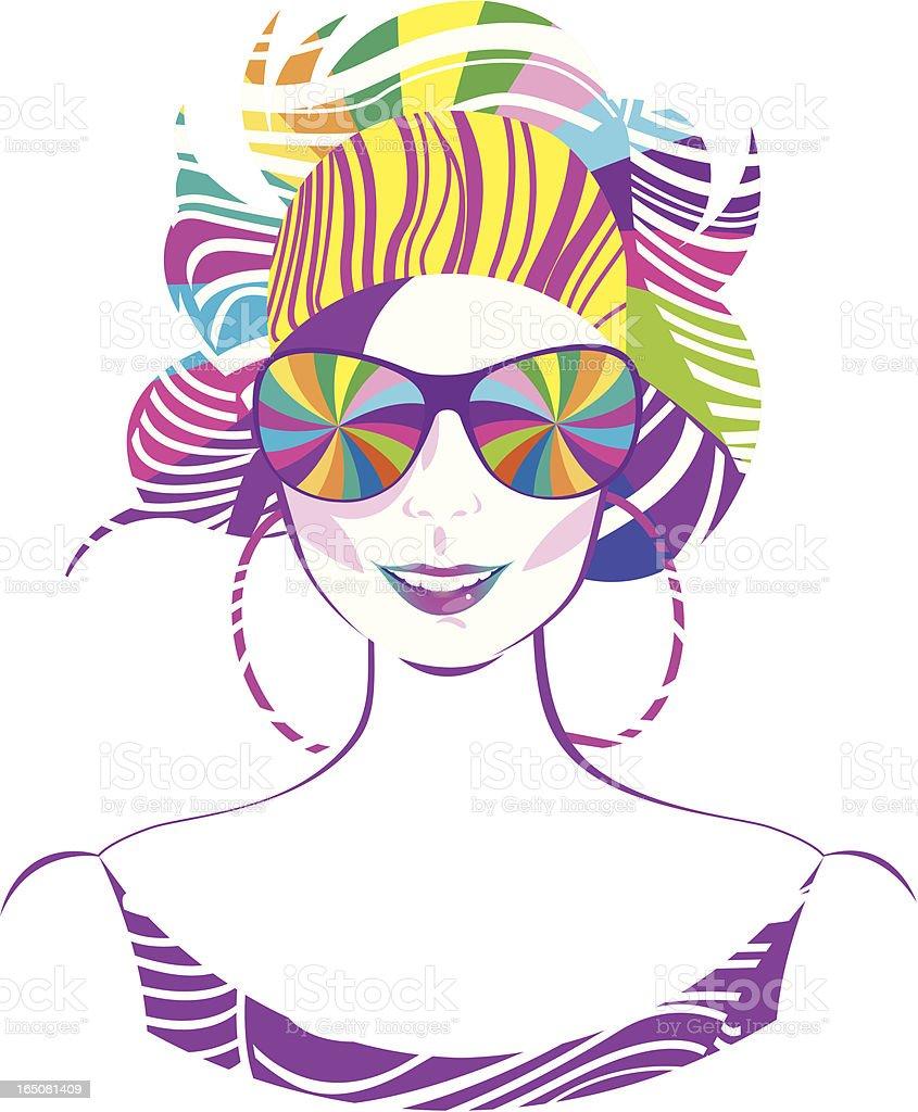 Colourful beauty. royalty-free stock vector art