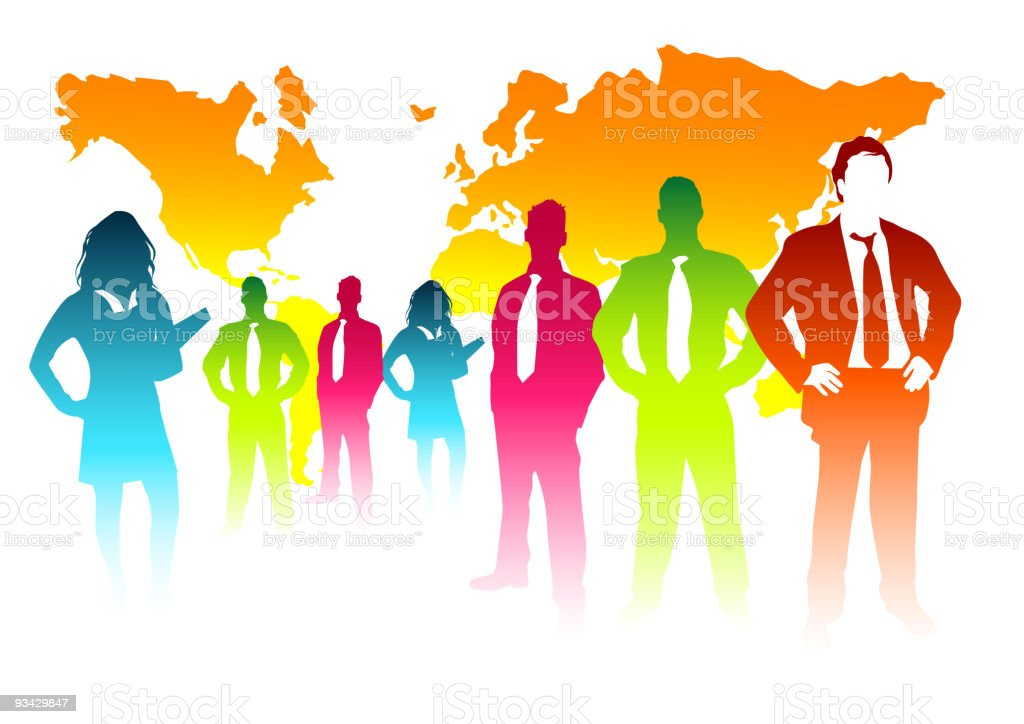 Colourful Business Concept royalty-free stock vector art