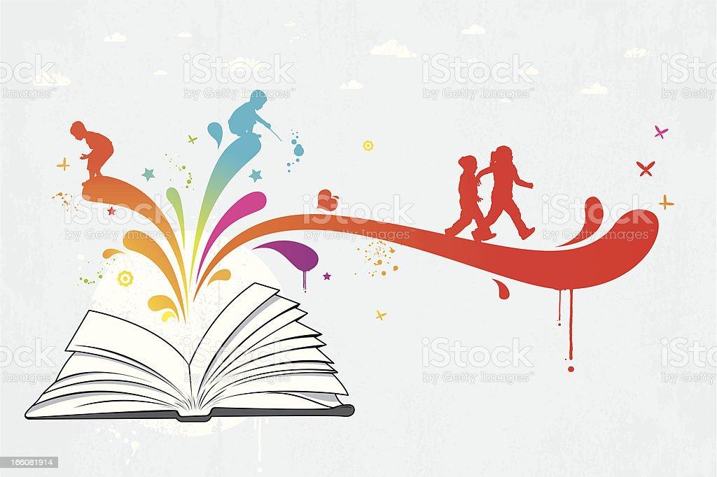Colourful children book vector art illustration