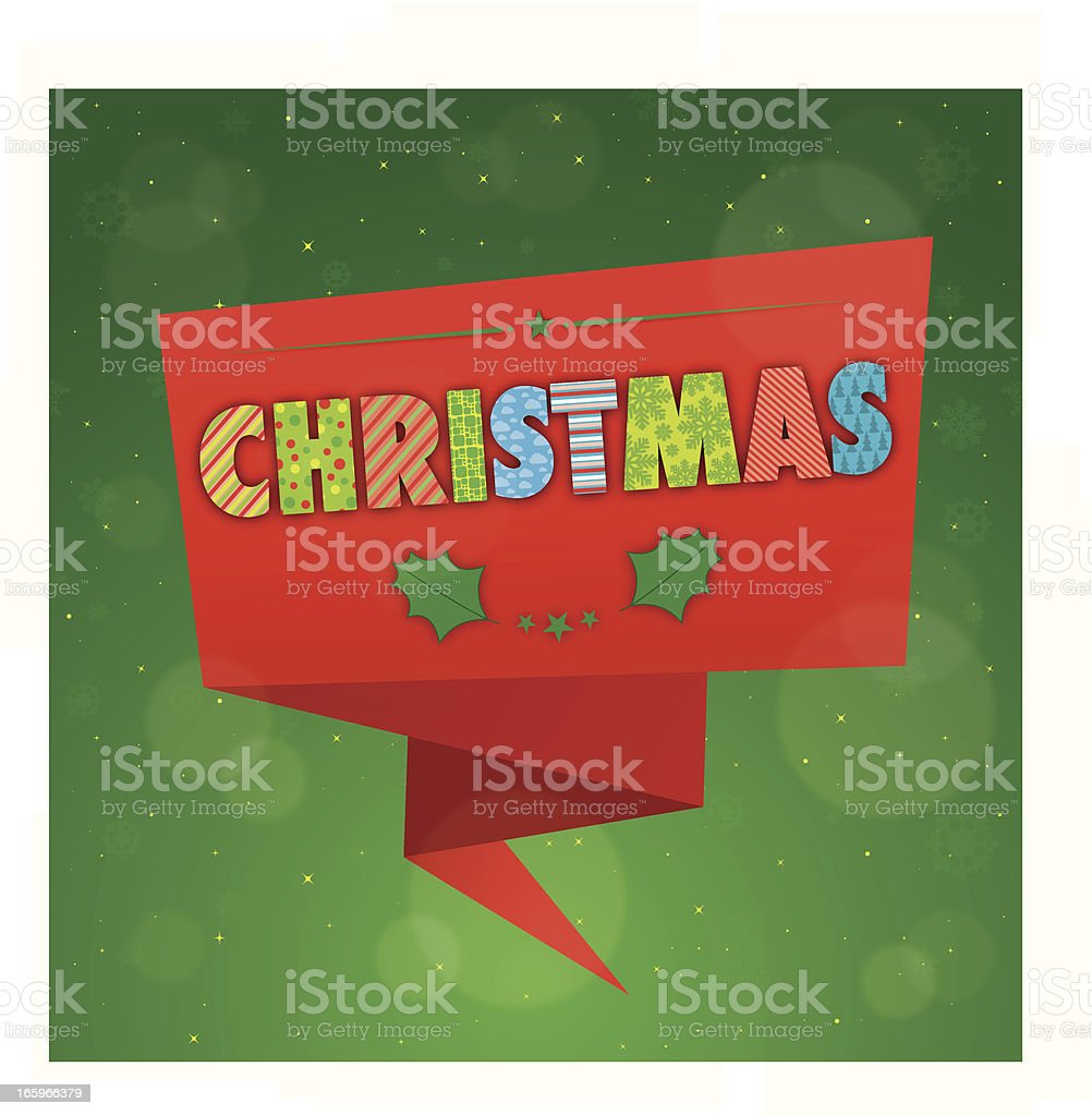 Colourful christmas badge royalty-free stock vector art