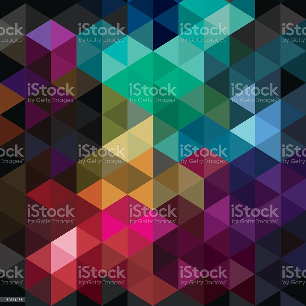 Colourful cube abstract background royalty-free stock vector art
