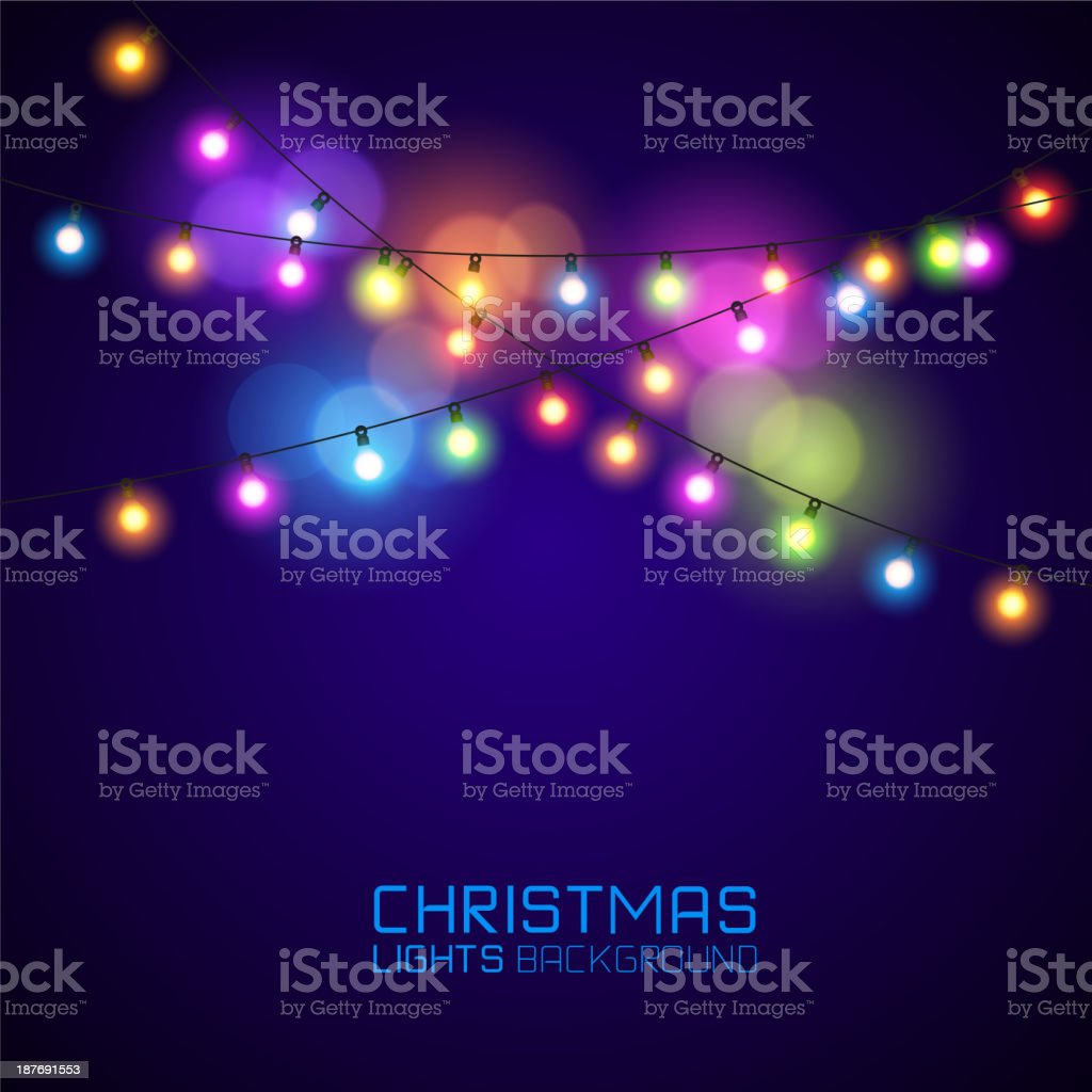 Colourful Glowing Christmas vector art illustration
