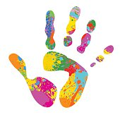 colourful handprint