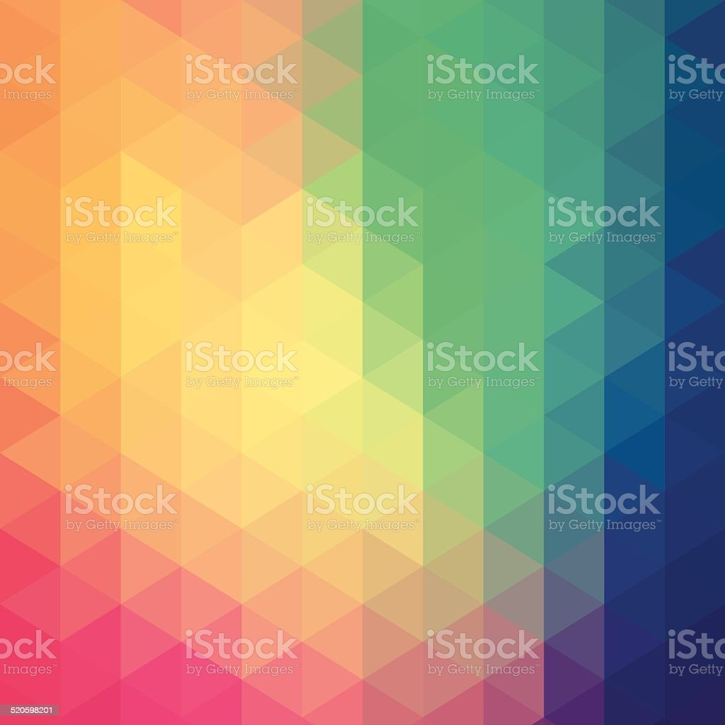 Colourful hexagon abstract background vector art illustration