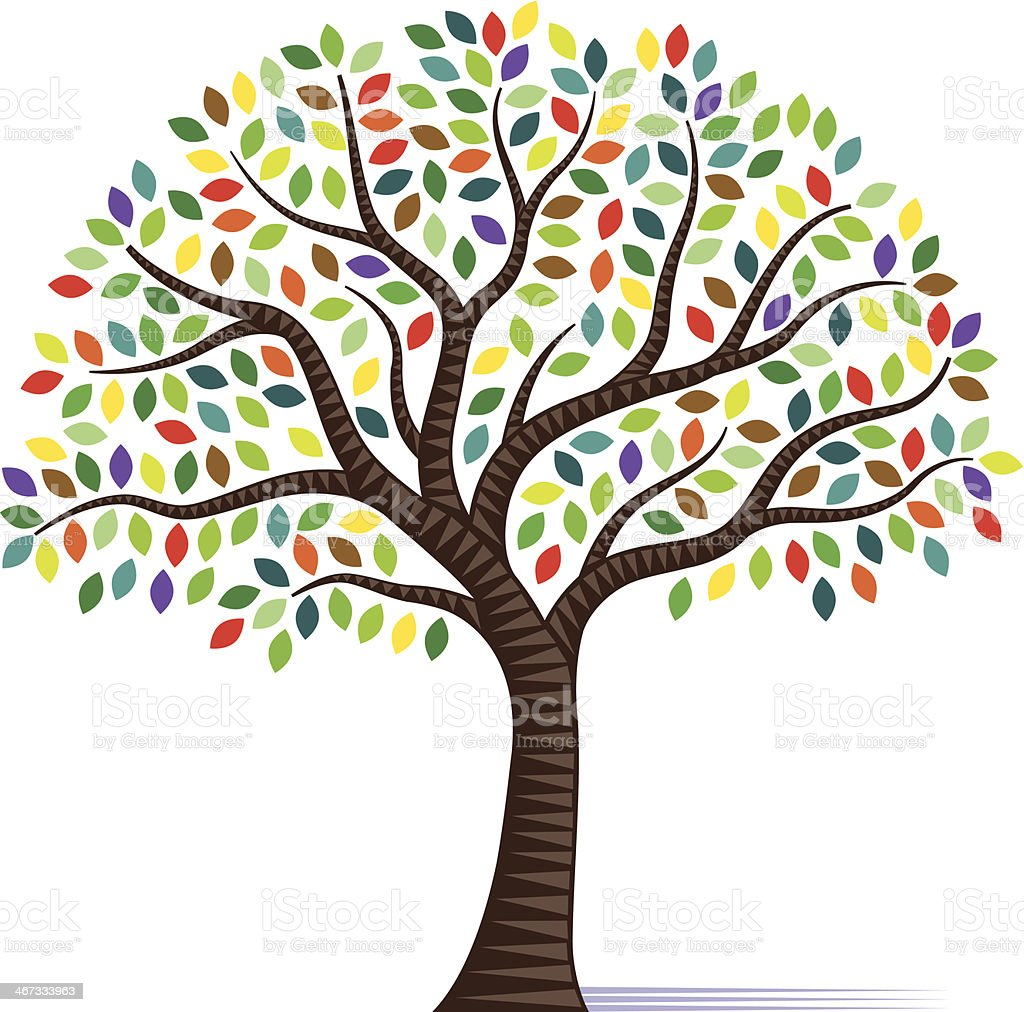Colourful little tree royalty-free stock vector art