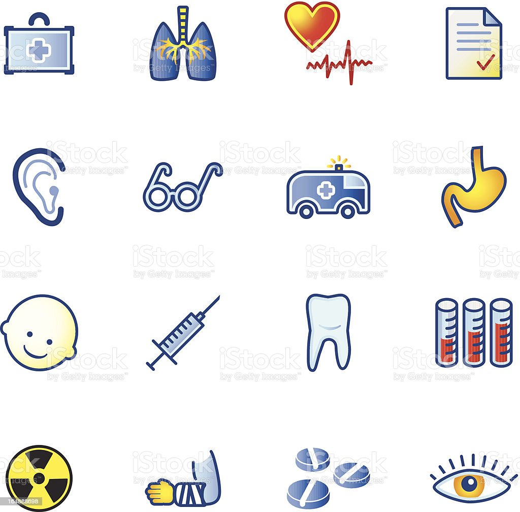 colourful medicine icons royalty-free stock vector art