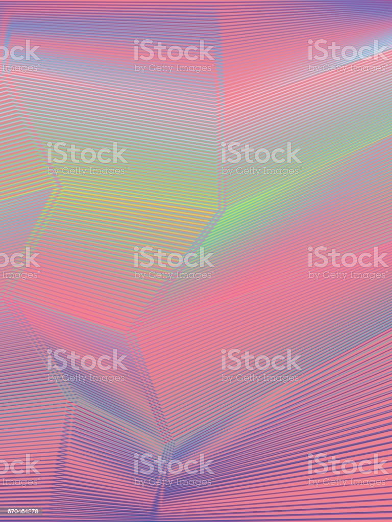 colourful moire pattern. vector art illustration