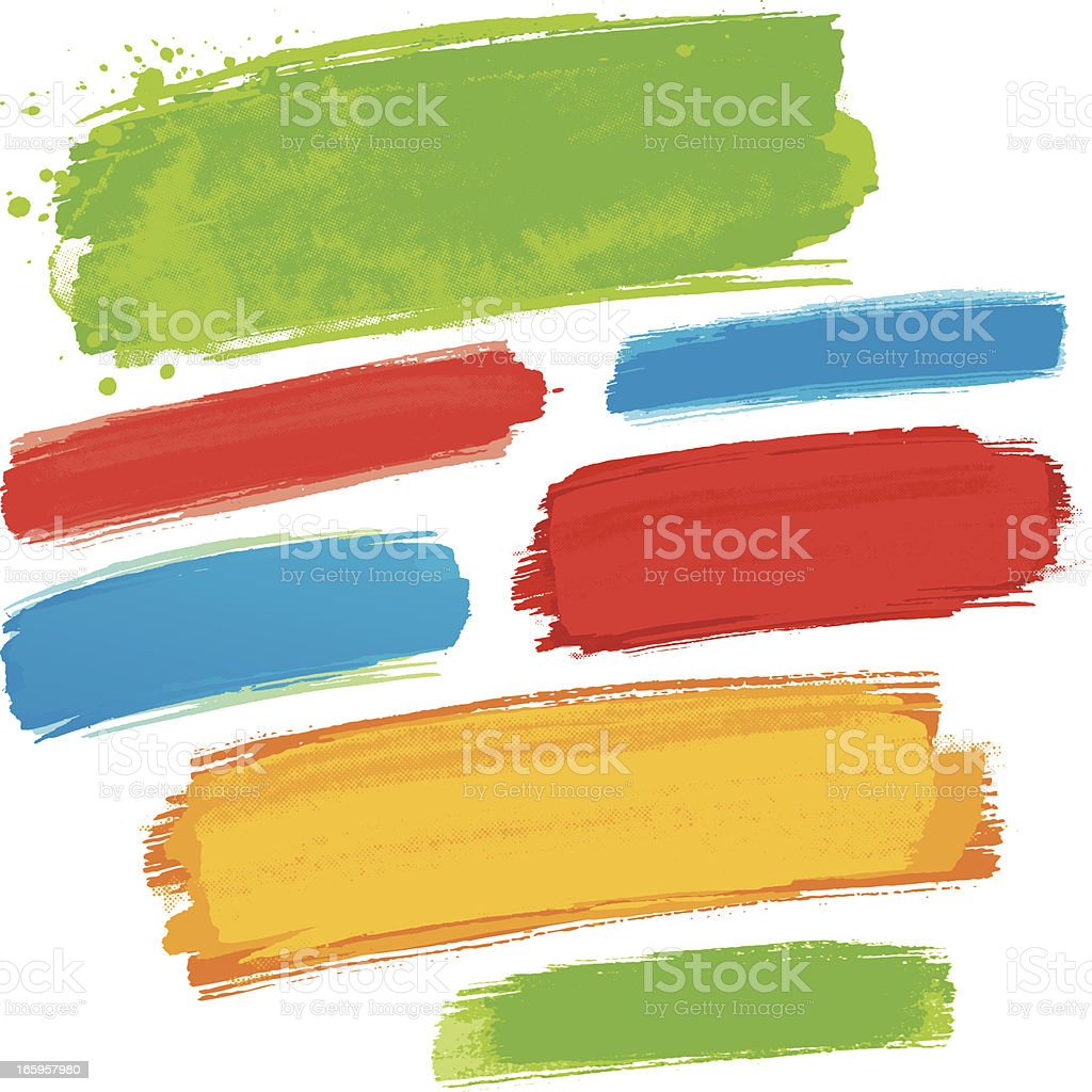 Colourful paint strokes royalty-free stock vector art