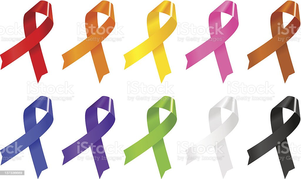 Colourful Ribbons stock photo