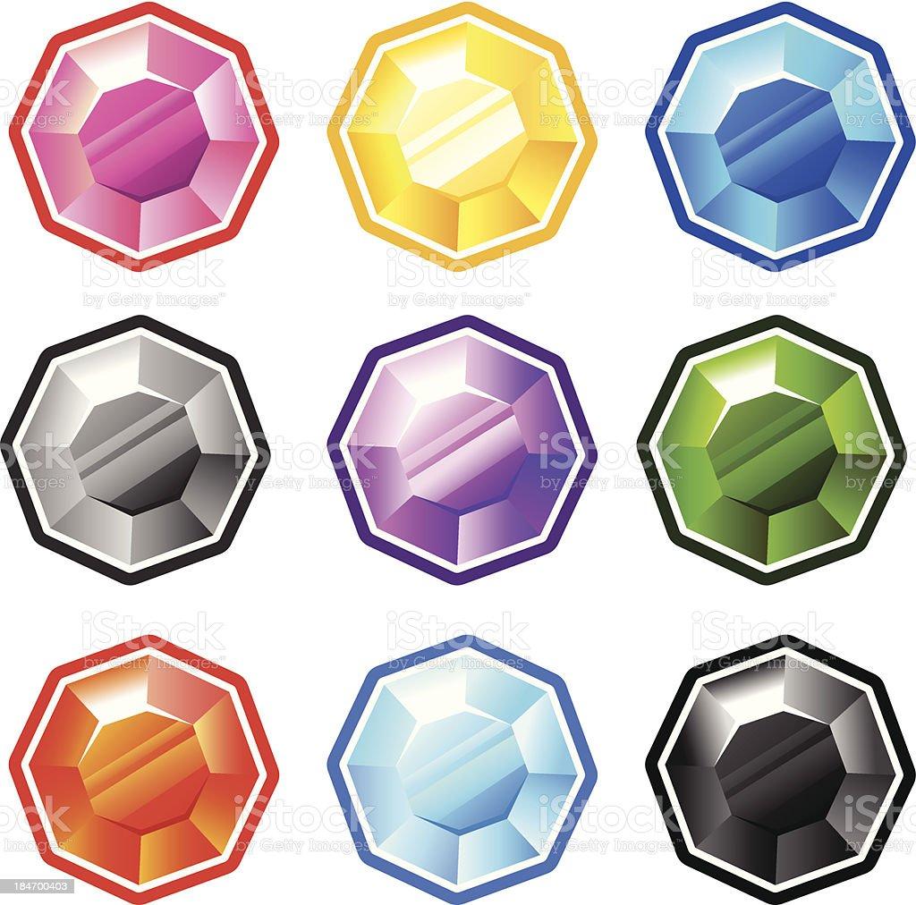 Colourful Round Diamonds royalty-free stock vector art