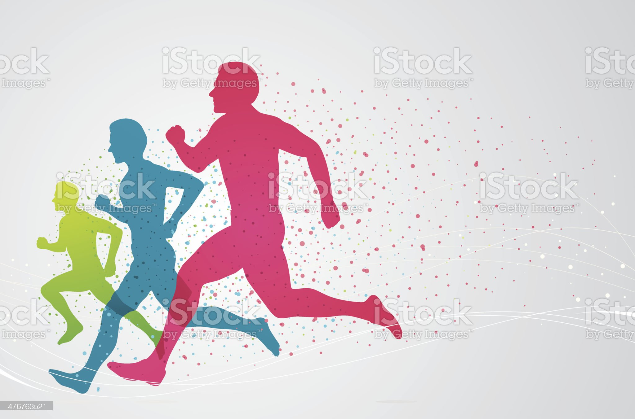 Colourful runners royalty-free stock vector art