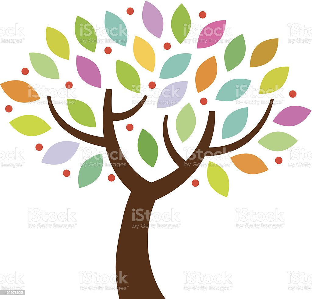 Colourful small tree royalty-free stock vector art