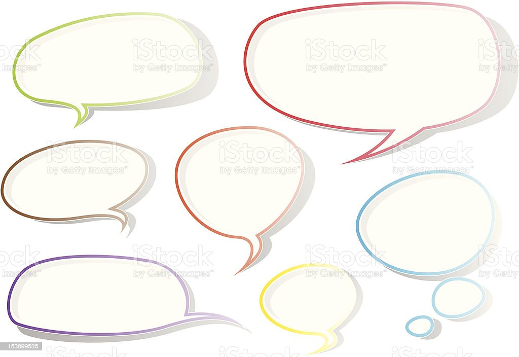 Colourful Speech Bubbles royalty-free stock vector art
