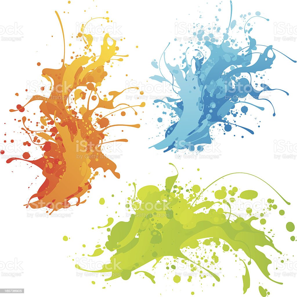 Colourful splashes vector art illustration