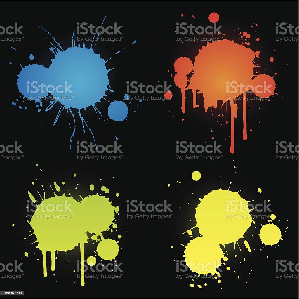 colourful splats royalty-free stock vector art