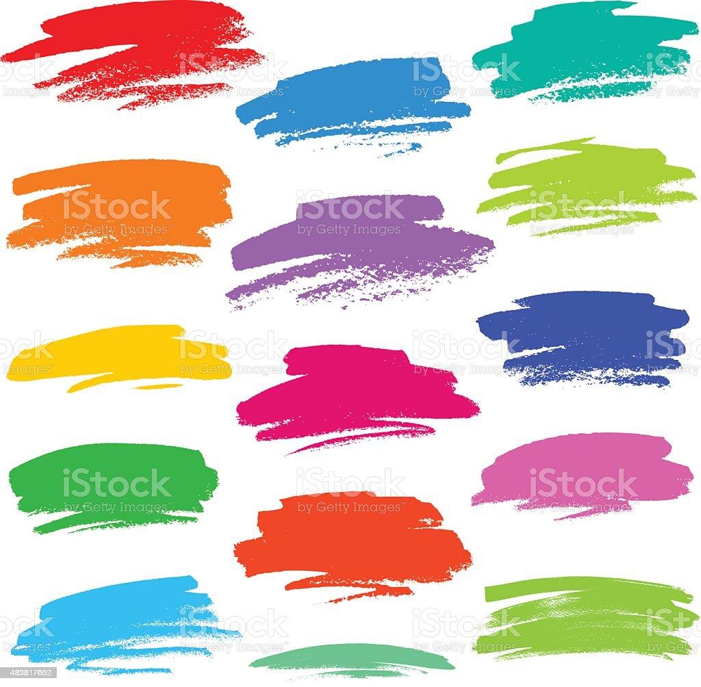 Colourful strokes vector art illustration