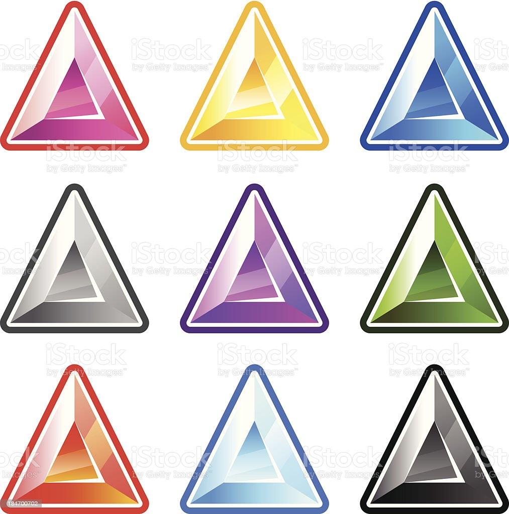 Colourful Triangle Diamonds royalty-free stock vector art