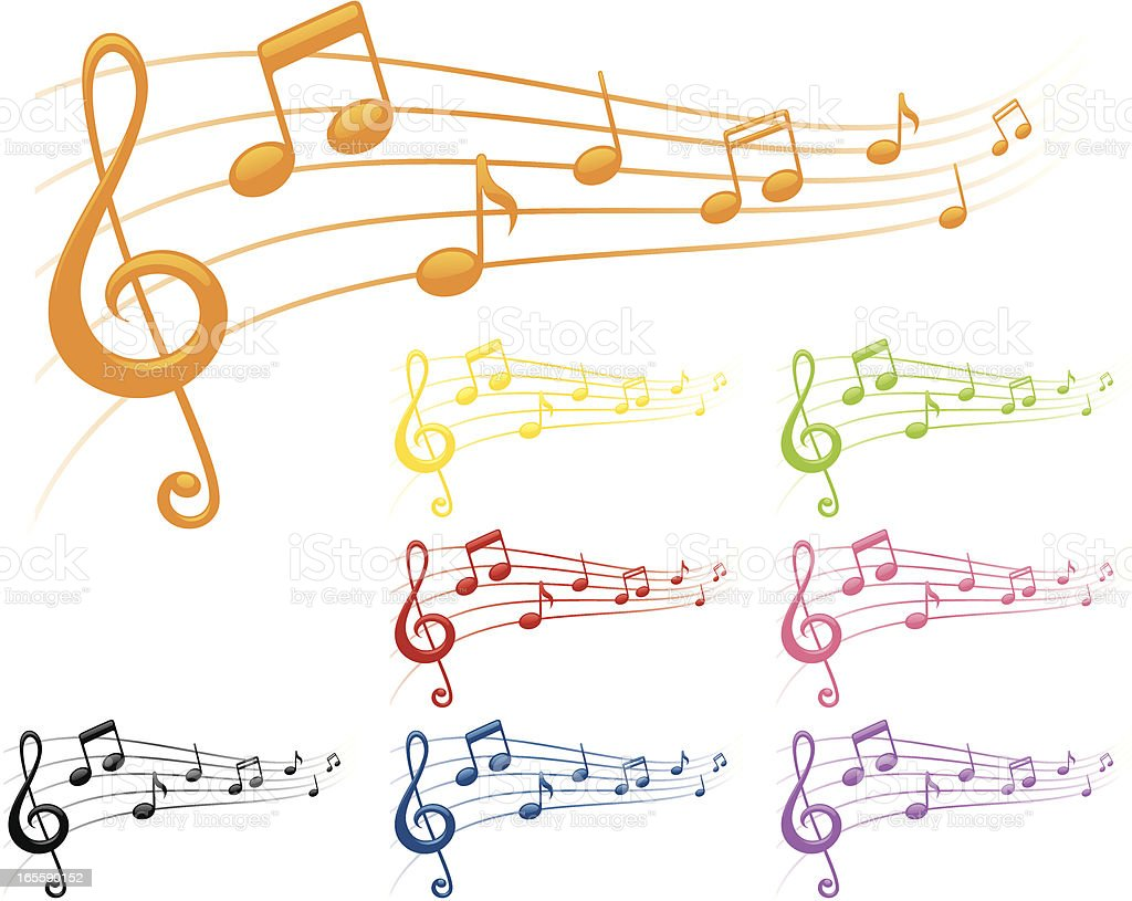 Colourful Tunes - incl. jpeg royalty-free stock vector art