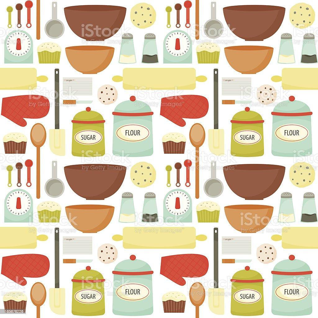 Colrful Baking Pattern vector art illustration