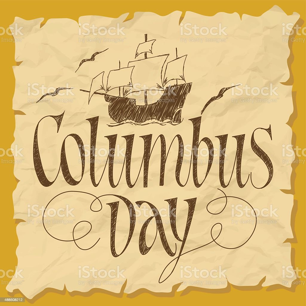 Columbus Day vector art illustration