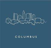 Columbus Skyline Sketch