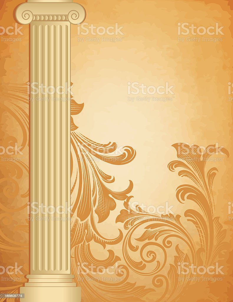 Column and Parchment royalty-free stock vector art