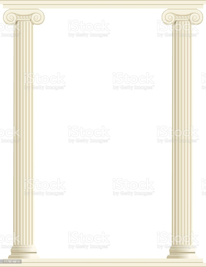 Column Border - Vertical vector art illustration