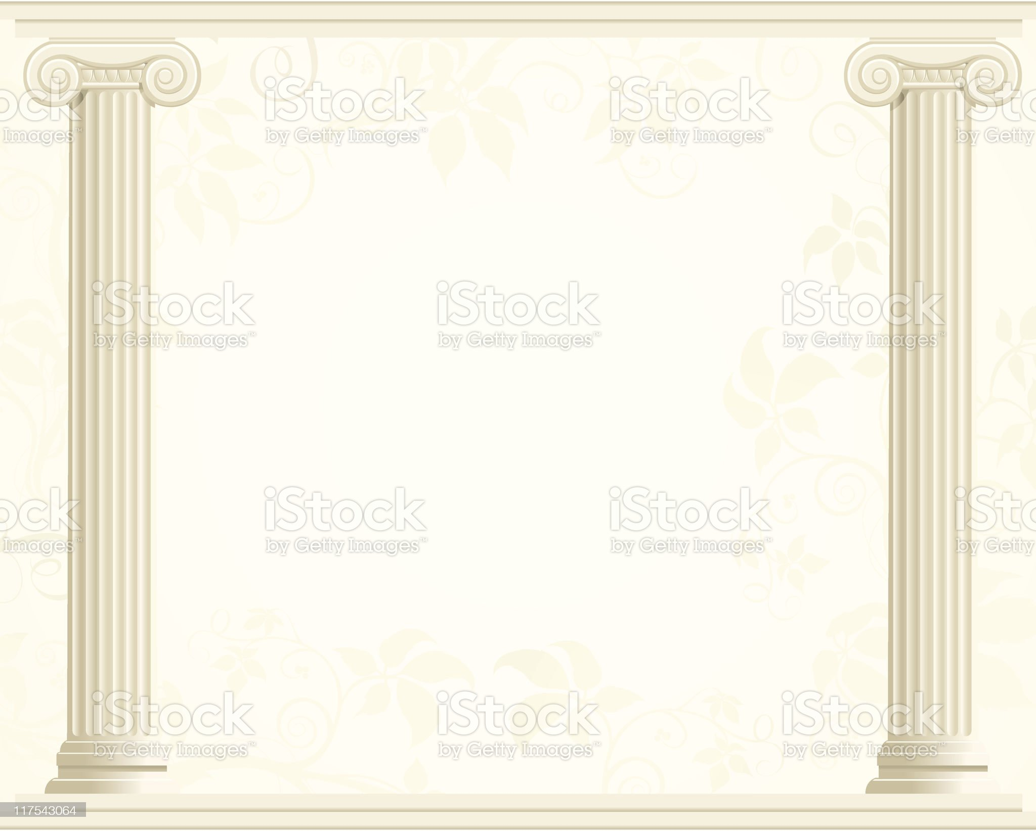 Column Border with Ivy Background royalty-free stock vector art