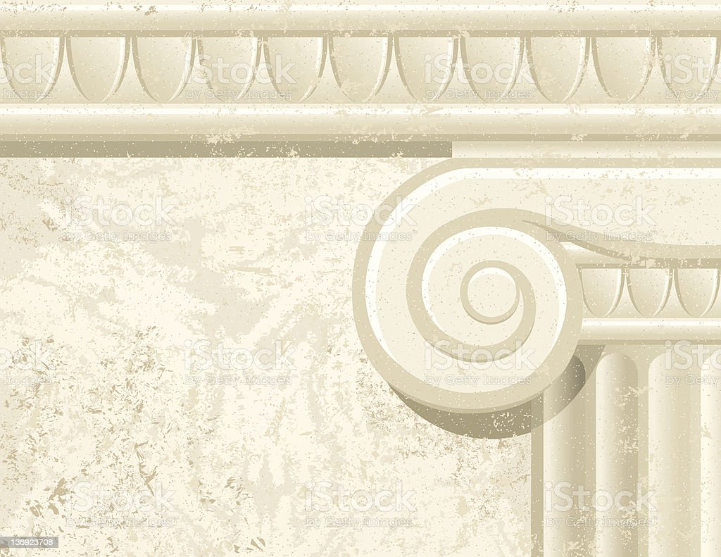 Column Detail with Texture royalty-free stock vector art