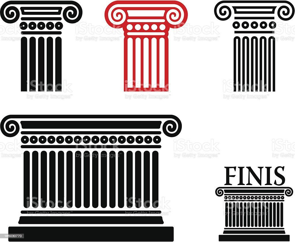column elements vector art illustration